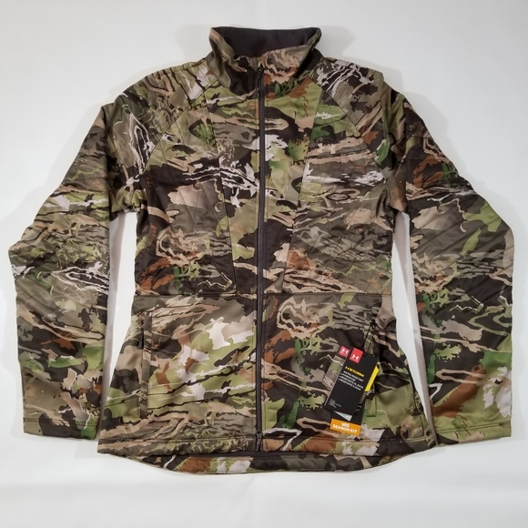 c86a05ae39f7 Under Armour Womens Brow Tine Jacket Forest Camo